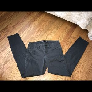 Black/grey low rise jeans